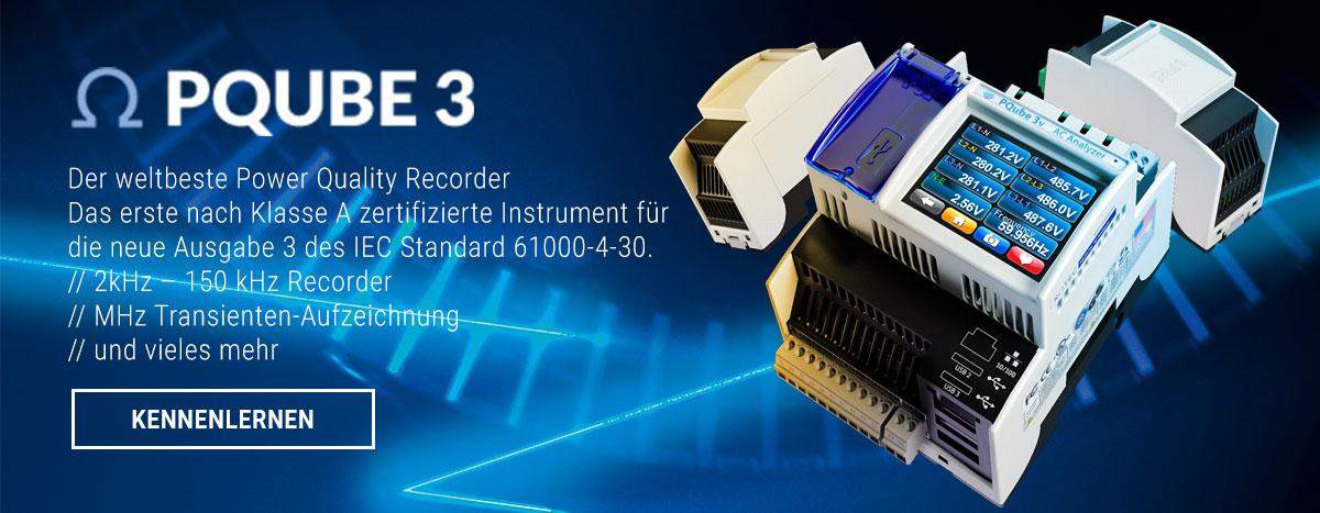 PQUBE 3 - Der weltbeste Power Quality Recorder